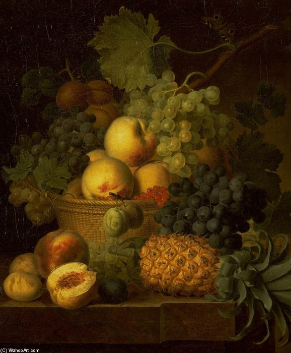 corbeille de fruits de Jan Frans Van Dael (1764-1840, Belgium)