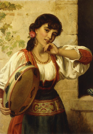 Un Napolitain Dancer de John Bagnold Burgess (1829-1897, United Kingdom)