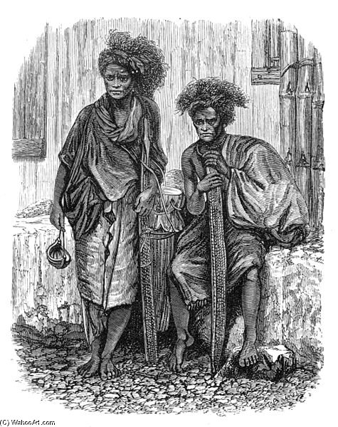 Dessin de Timor Men de Thomas Baines (1820-1875, United Kingdom)