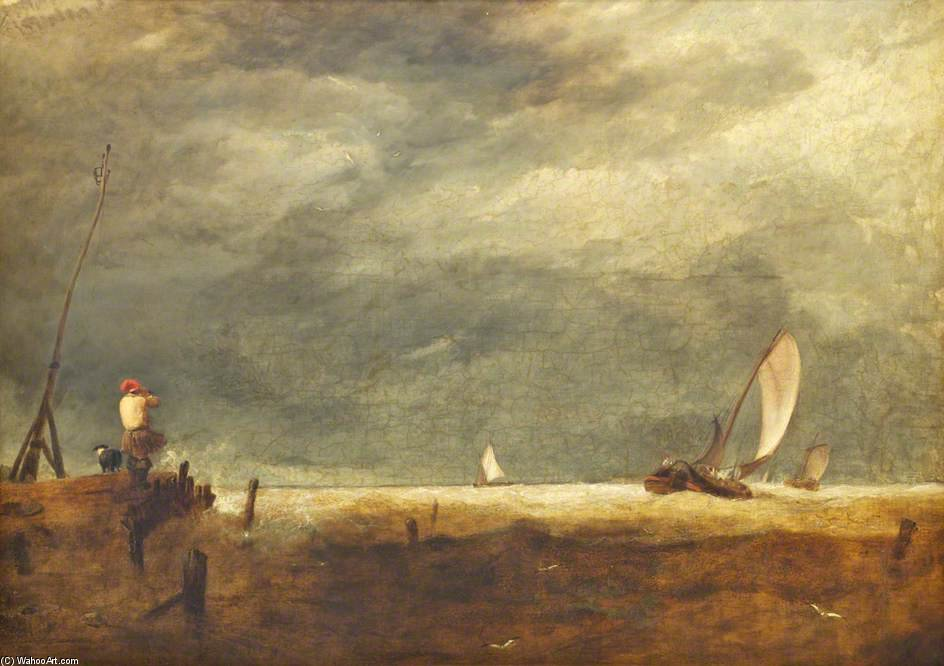 Scène Coast de Augustus Wall Callcott (1779-1844, United Kingdom)