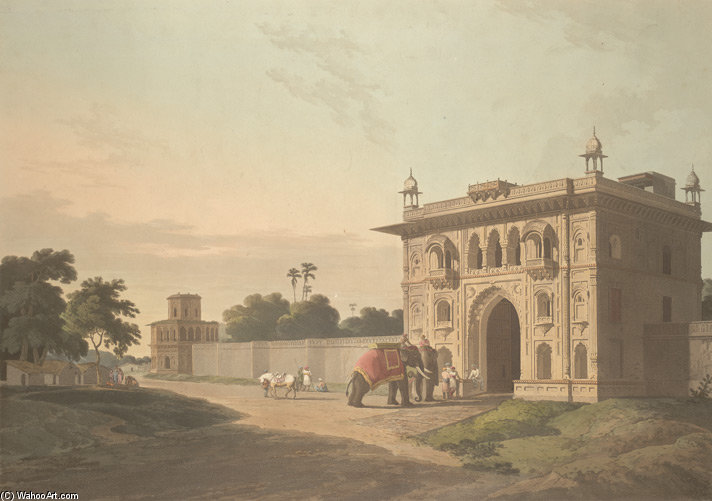 Porte de la Loll-baug Au Fyzabad de Thomas And William Daniell (1769-1837, United Kingdom)