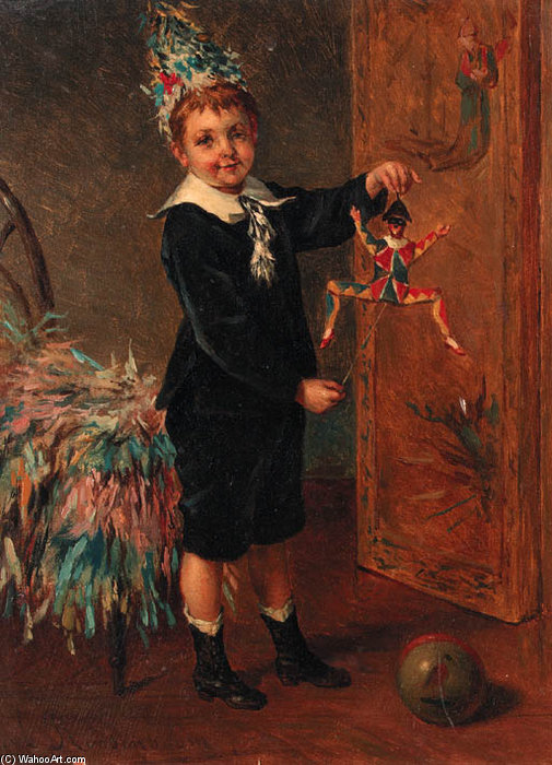 Le Young Entertainer de Albert Roosenboom (1845-1875, Belgium)
