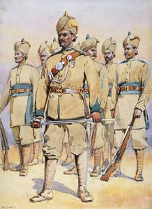 Alfred Crowdy Lovett - Soldats Of Le 33rd Punjab..