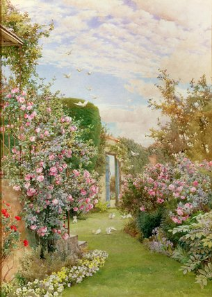 chine roses , Broadway de Alfred Parsons (1847-1920, Australia)