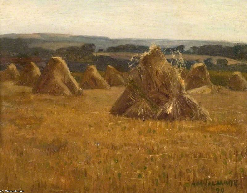 Corn Stacks de Algernon Talmage (1871-1939, United Kingdom) | ArtsDot.com