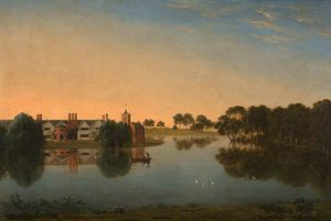 Anthony Devis - Tabley - The Old Hall Across The Mere