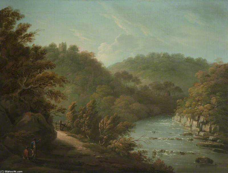 La rivière Ure A Hackfall, Près de Ripon, West Riding of Yorkshire de Anthony Devis (1729-1816, United Kingdom)