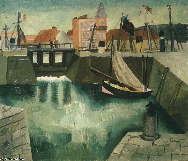 Harbour, Dieppe de Christopher Wood (1901-1930, United Kingdom) | ArtsDot.com