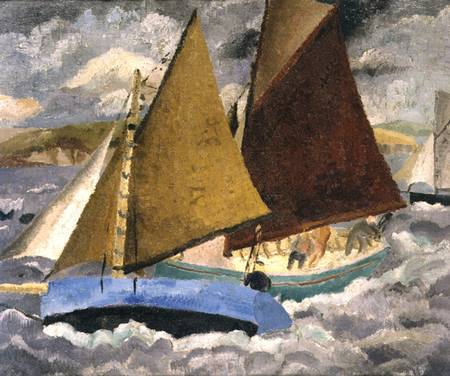 Yacht Race à portscato , Cornwall de Christopher Wood (1901-1930, United Kingdom)