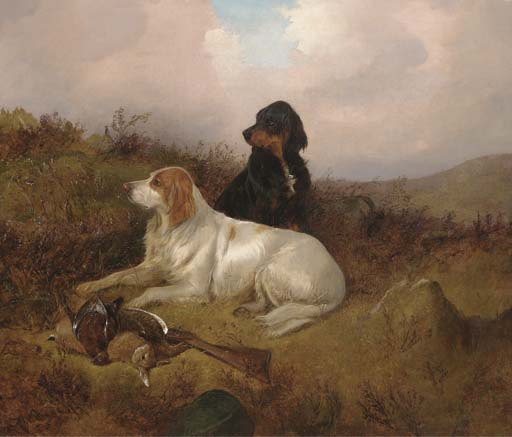Setters Guarding The Bag de Colin Graeme Roe (1858-1910, United Kingdom) | ArtsDot.com