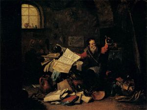 David Teniers The Elder - Alchimiste
