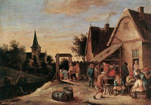 David Teniers The Elder - village fête