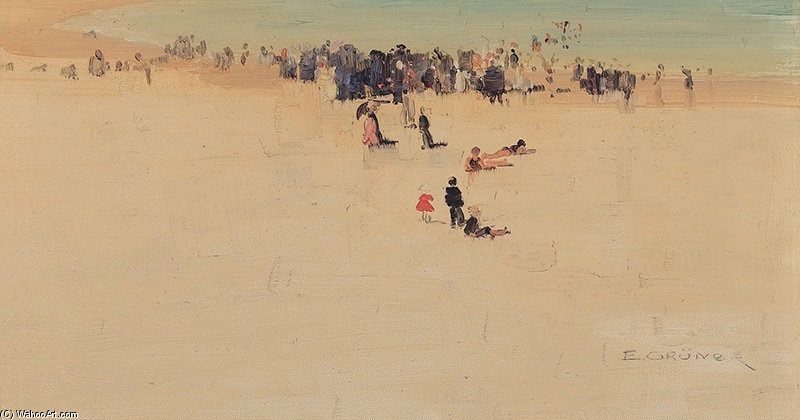 Le long des sables de Elioth Gruner (1882-1939, New Zealand)