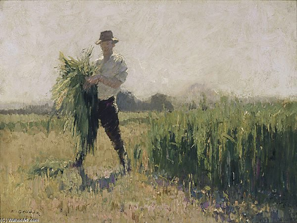 été matin de Elioth Gruner (1882-1939, New Zealand)