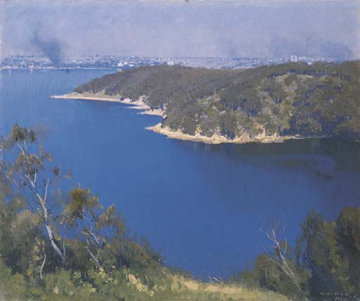 Le port de Sydney de Elioth Gruner (1882-1939, New Zealand) | ArtsDot.com