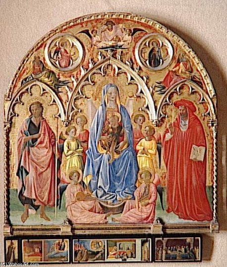 Retable Rinieri Francesco Antonio D de Francesco D'antonio Da Viterbo (1407-1476, Italy)