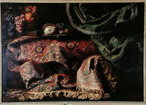 Francesco Fieravino (Il M.. - nature morte avec a `carp..
