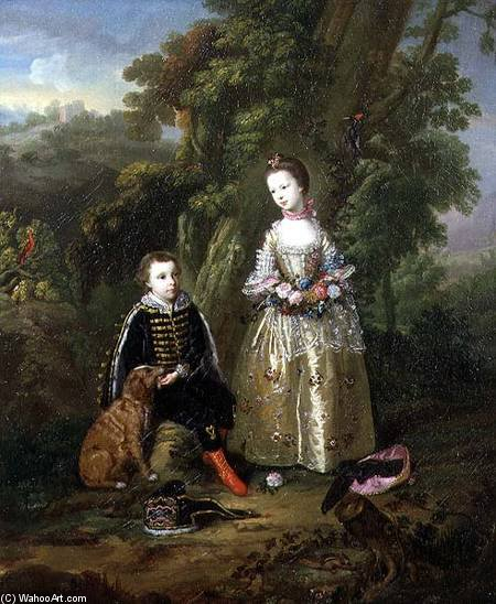 Achat Copie Tableau : Portrait_children_landscape_hi de Francesco Foschi (1710-1780, Italy) | ArtsDot.com