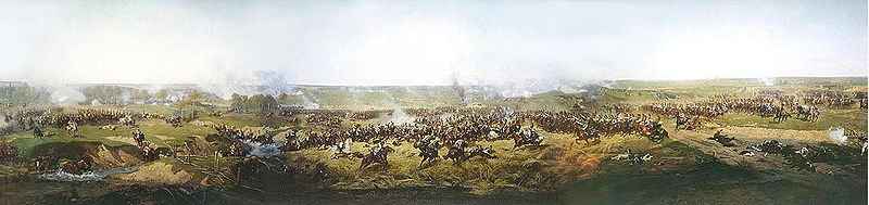 Panorama Of Moscow Battle - de Francois Flameng (1856-1923, France)