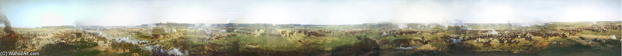 Panorama Of Moscow Battle de Francois Flameng (1856-1923, France)