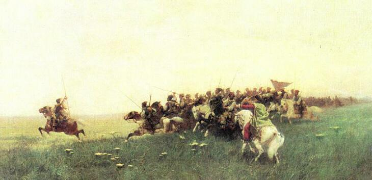 Assault Cosaque Zaporoshian de Francois Flameng (1856-1923, France)