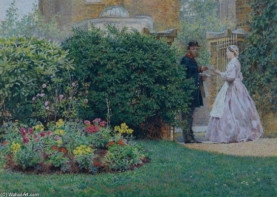 Mon Jardin Réception - de Frederick Walker (1840-1875, United Kingdom)