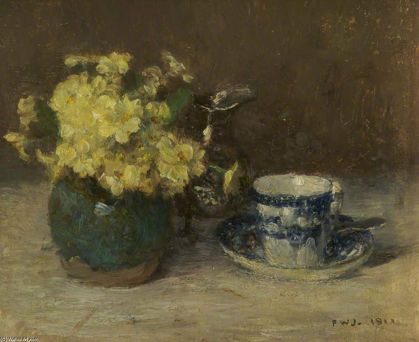 Primevères de Frederick William Jackson (1859-1918, United Kingdom)