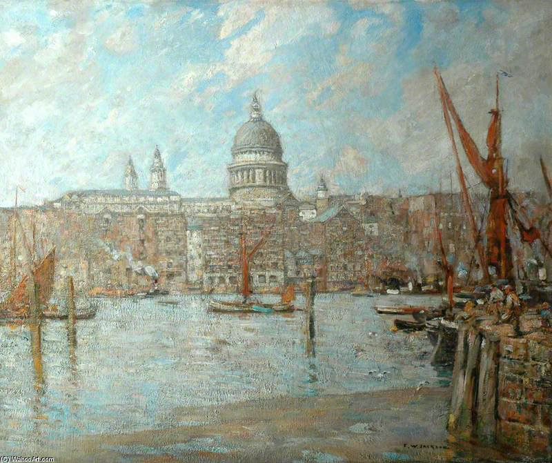 St Paul's , Londres de Frederick William Jackson (1843-1942, United States)