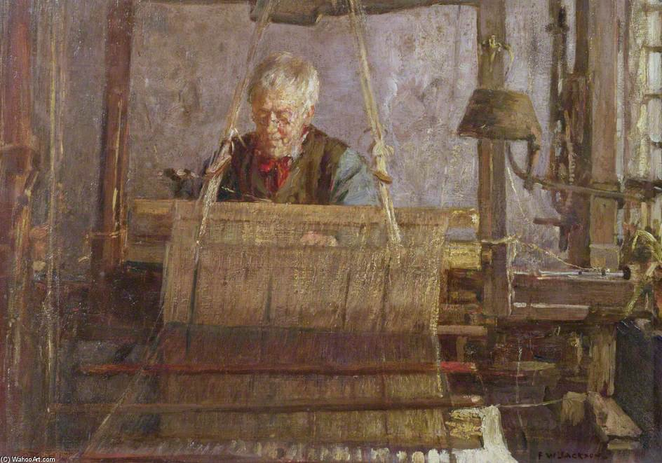 Le dernier de la main Loom Weavers de Frederick William Jackson (1859-1918, United Kingdom)