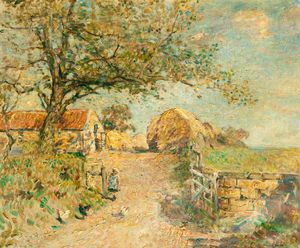 Frederick William Jackson - la route de le ferme