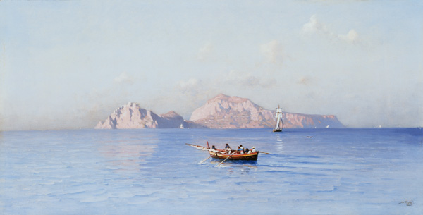 regarder Capri Of le nord Side de Friedrich Nerly (1808-1878, Germany)