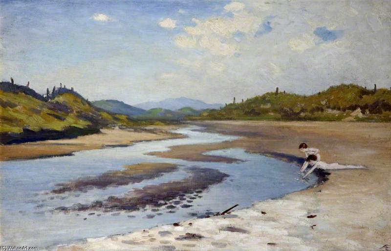 River à l de sable de George William Russell (1867-1935, Ireland) | ArtsDot.com