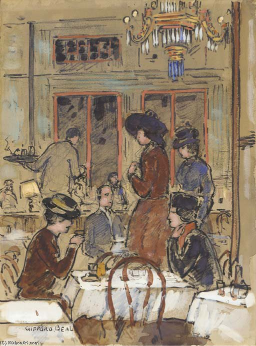 chinois restaurant de Gifford Beal (1879-1956, United States)
