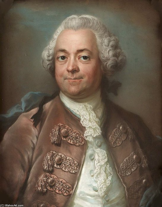 Portrait Of Herman Petersen de Gustaf Lundberg (1695-1786, Sweden)