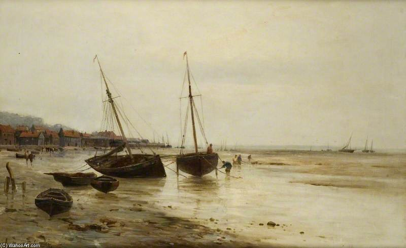 Au Leigh, Essex de Gustave De Breanski (1856-1898, United Kingdom)