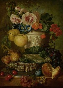 Jan Van Os - Nature morte avec fruits ..