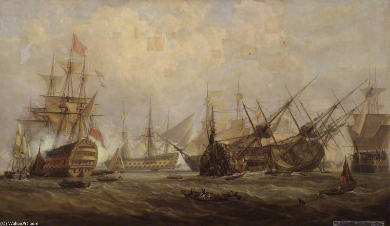 Perte du George royal de John Christian Schetky (1778-1874, United Kingdom) | Copie Tableau | ArtsDot.com