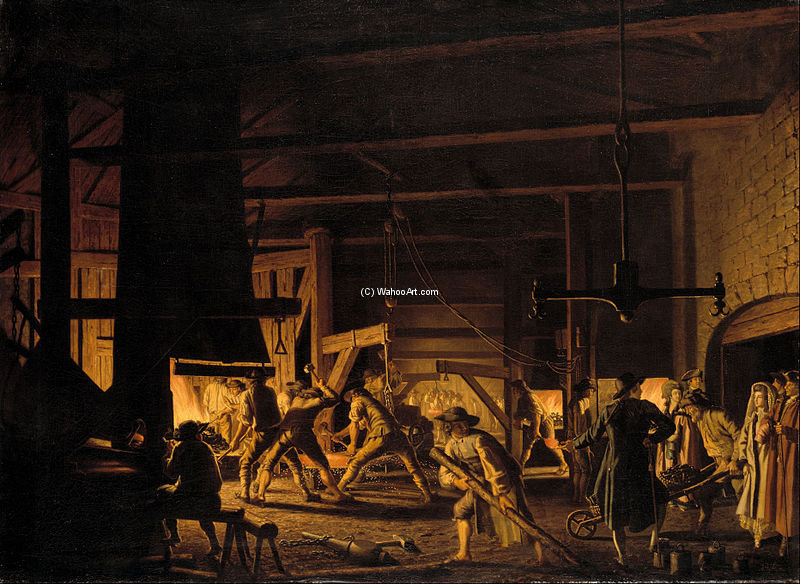 Dans The Anchor-Forge À Söderfors de Pehr Hillestrom (1732-1816, Sweden)