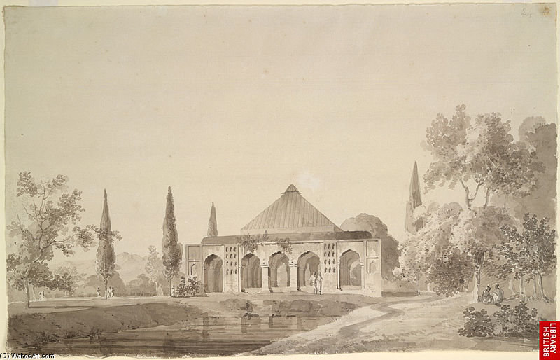 Jardin de Jahangir Khan, Najibabad de Thomas And William Daniell (1769-1837, United Kingdom)