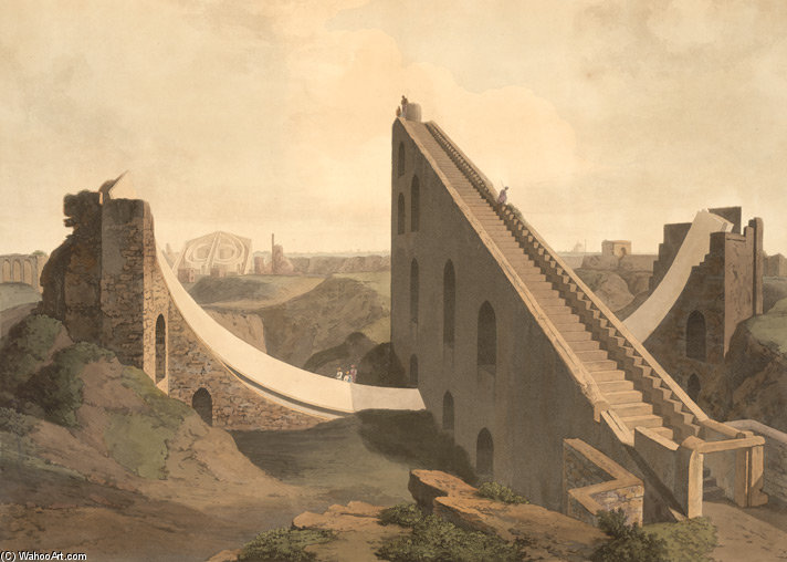 L Observatoire À Delhi de Thomas And William Daniell (1769-1837, United Kingdom)