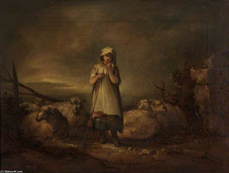 gloucestershire fille keeping Moutons de Thomas Barker (1769-1847, United Kingdom)