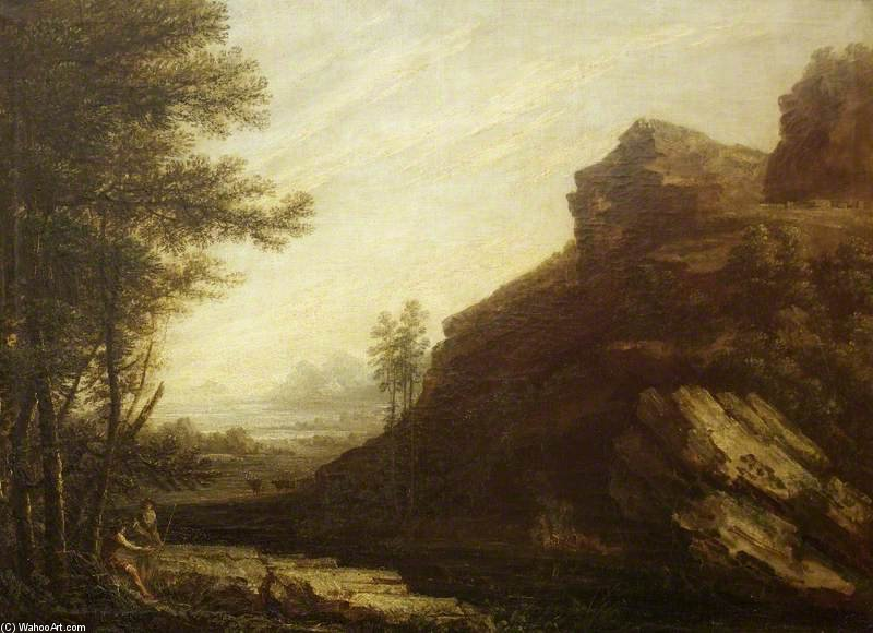 paysage au de Thomas Barker (1769-1847, United Kingdom)
