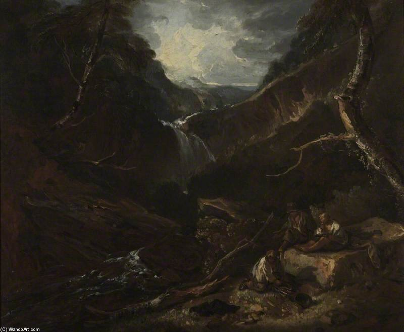Montagne Glen Et Torrent de Thomas Barker (1769-1847, United States)