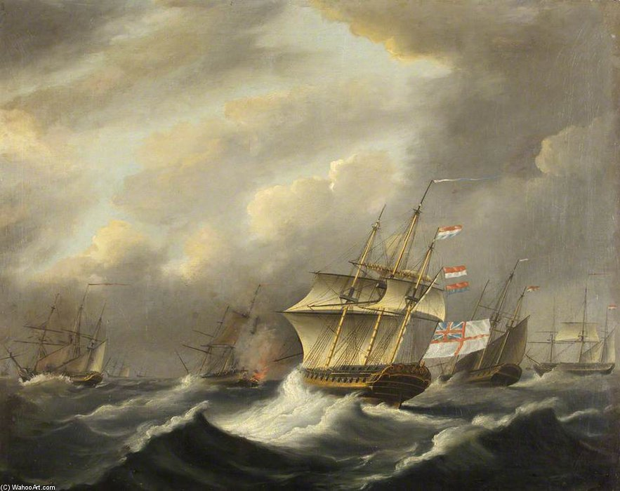 Hms de la daedalus de Thomas Buttersworth (1768-1842, United Kingdom)