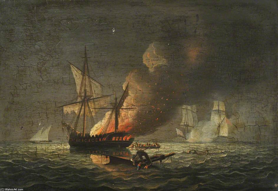 Hms de l hippocampe 'Capturer Le Badiri-i-Zaffer de Thomas Buttersworth (1768-1842, United Kingdom)