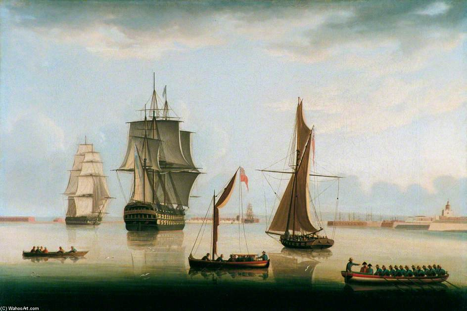 expédition en PORTSMOUTH Port de Thomas Buttersworth (1768-1842, United Kingdom)