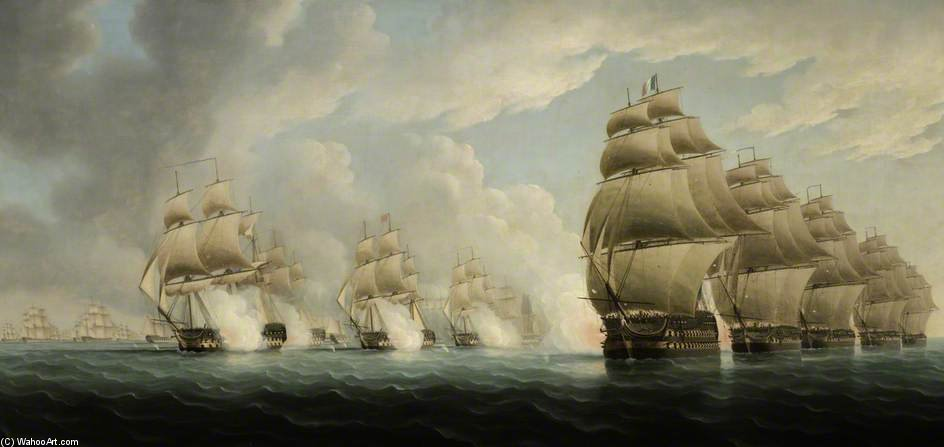 L action Off Pulo Aor de Thomas Buttersworth (1768-1842, United Kingdom)