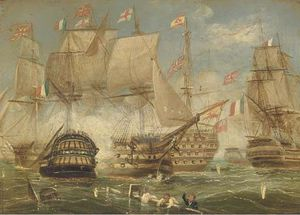 Thomas Buttersworth - La bataille de Trafalgar -