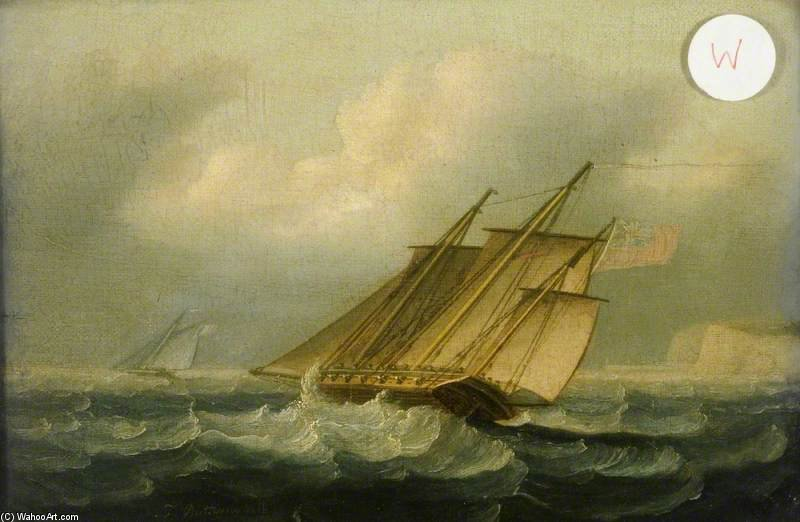 Le Squall de Thomas Buttersworth (1768-1842, United Kingdom)