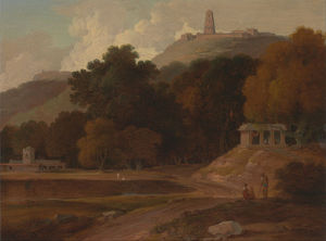 Thomas And William Daniell - `hilly` paysage dans inde